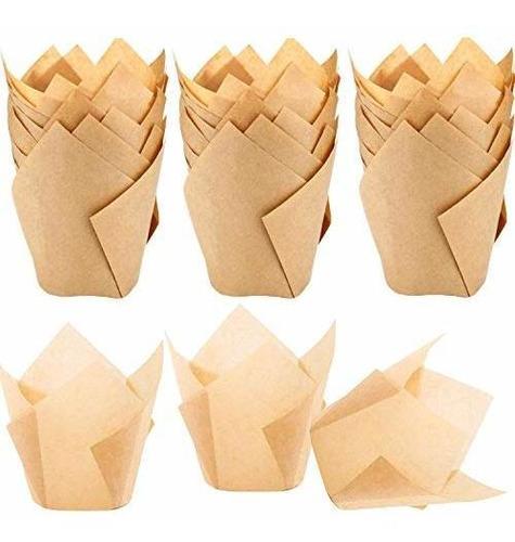 150 piezas de moldes para magdalenas de tulipan para hornear