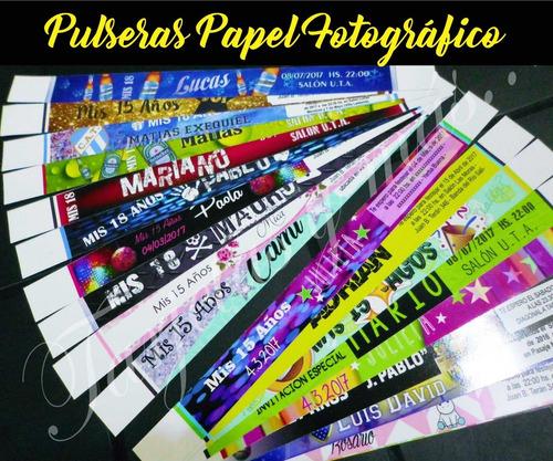 150 pulseras papel fotográfico /15 /18 / bodas / eventos