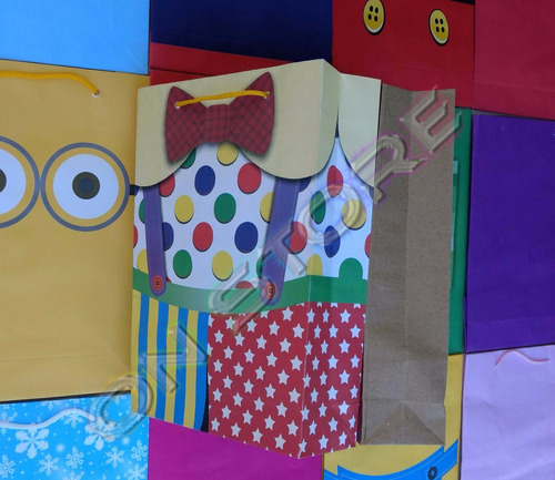 150 sacolas  papel unicórnio 25x17x6cm bolsa festa lembrança