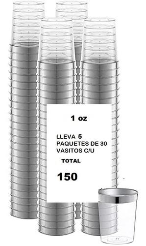 150 shot mini vasito postre acrilico  pack 5x30u