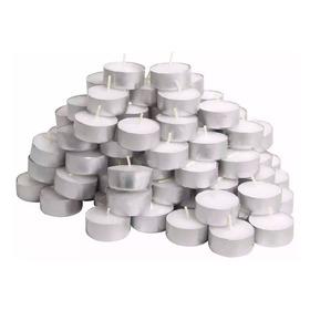 150 Velas Rechaud Brancas Em Suporte Alumínio - 4hrs Queima