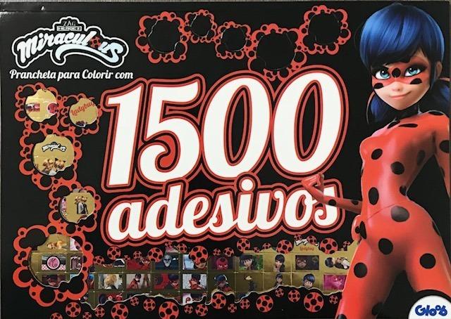 1500 Adesivos Prancheta Para Colorir Ladybug Miraculous R 22