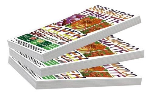 1500 folhas papel fotografico matte fosco deko  a4 108 grama