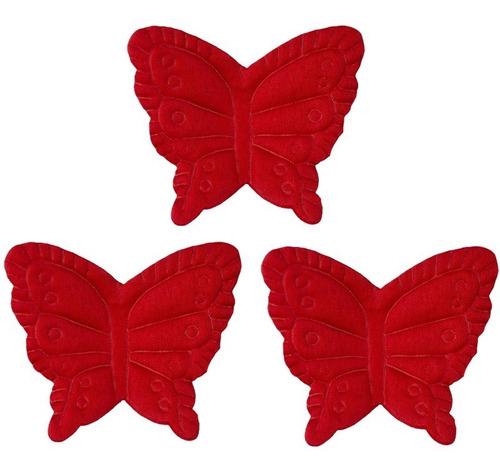 1500 mariposas rojas de tela para adornar y decorar eventos