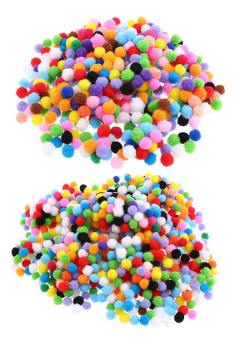 1500 piezas pompón de lana fieltro bolas surtido coloridos