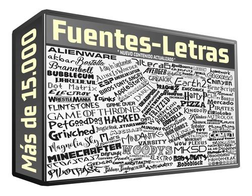 15000 fuentes texto para windows diseño graficas serigrafia