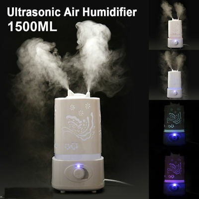 1500ml aroma aire humidificador led aire difusor aire