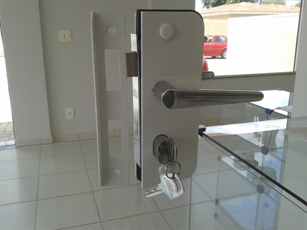 1520ta Fechadura P/ Porta De Abrir Em Vidro C/ Maçaneta R$ 94 90  #9A3133 1200 900