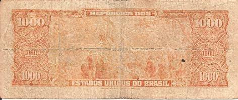 1540 - brasil - 1.000 cruzeiros autografada - c048