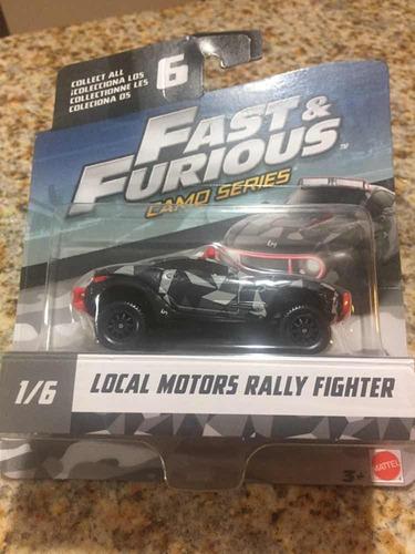 1/55 mattel rápido y furioso camuflaje motors rally fighter