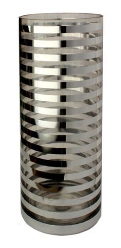 1550-38 florero de cristal plata gde