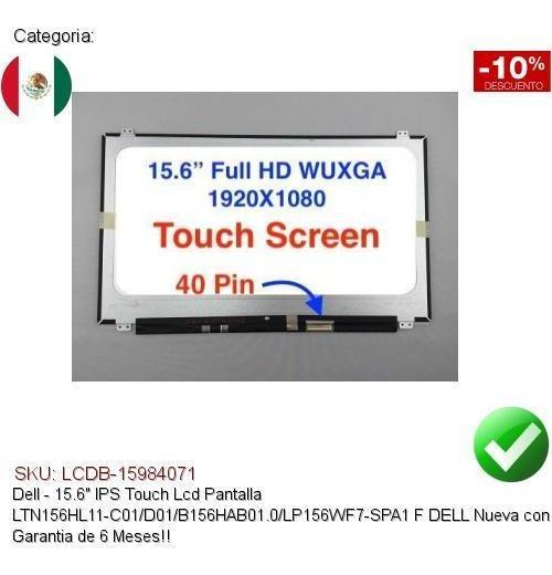 "15.6/"" IPS Touch lcd screen LTN156HL11-C01//D01//B156HAB01.0//LP156WF7-SPA1 f DELL"