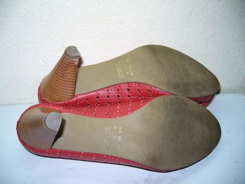 157 x - scarpan vermelho  vazado nº 38  rivelato