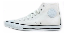 converse all star cuero blancas