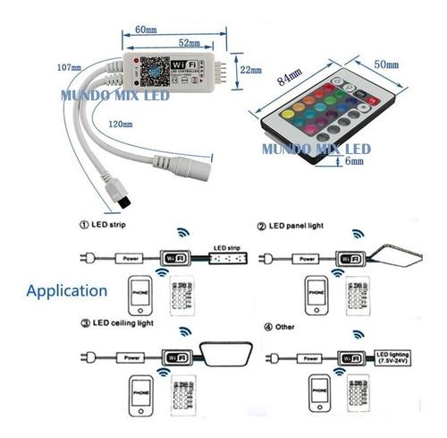 15mts fita led 5050 rgb + fonte + controle wifi google home
