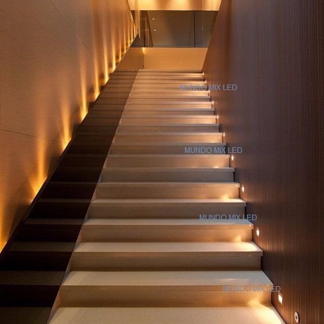 15p s balizador parede escada led 3w ip40 fosco quente for Segnapasso led per scale interne