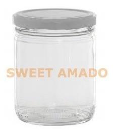 15potes vidro boca larga berlim 600ml porta sabonete