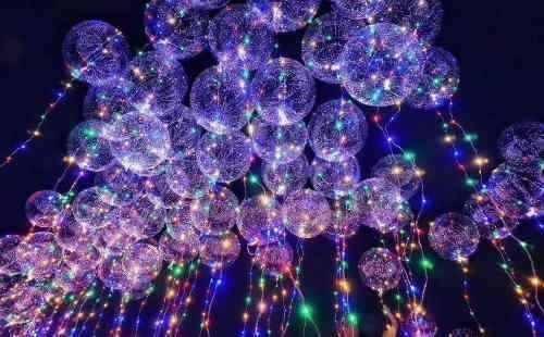 15x balao p/ festa led bubble aniversario casamento bexiga