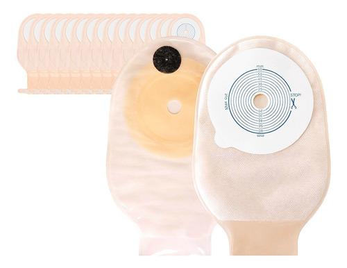 15x bolsa colostomía drenable con filtro anti olor y gases