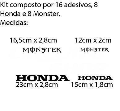 16 adesivos refletivo roda moto honda monster cb cbr hornet