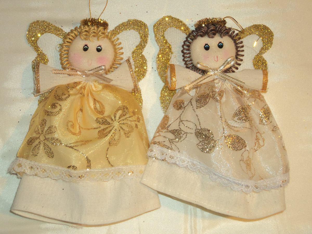 16 angeles de manta para recuerdos o centros de mesa - Adornos navidenos ninos ...