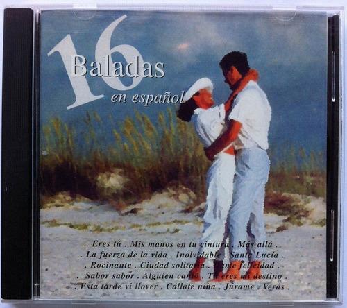 16 baladas en español. cd original, nuevo