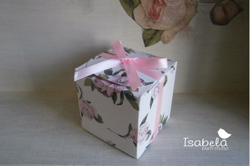 16  cajitas cajas dulces shaby chic shower  bautizo vintage