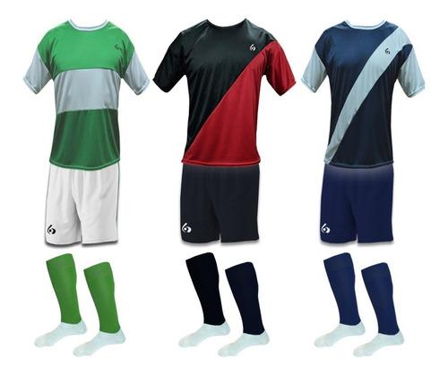 16 camisetas numeradas futbol : camisetas + short + medias