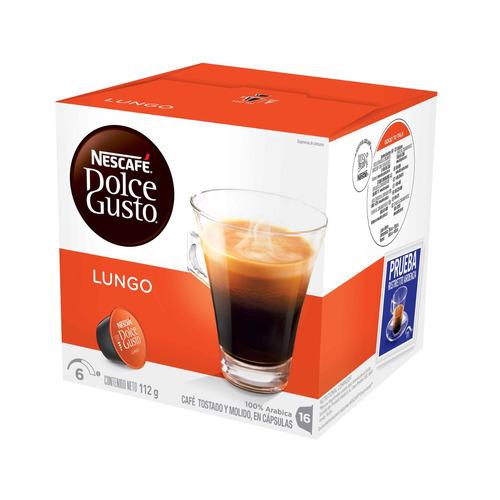 16 capsulas cafetera nescafe dolce gusto cafe lungo
