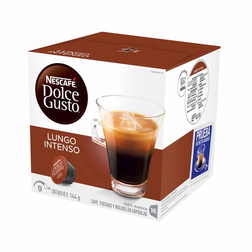 16 capsulas cafetera nescafe dolce gusto cafe lungo intenso