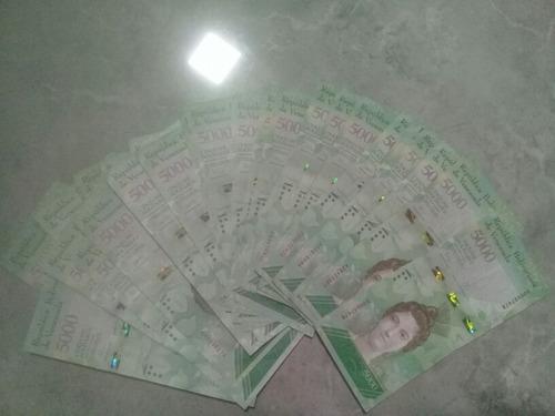 16 cedulas 5000 e 10000 bolivares mbc/soberba