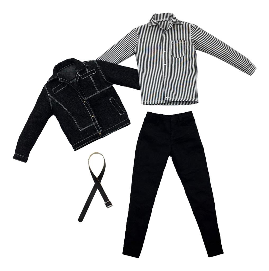 replicas envío directo moda caliente 1/6 Chaqueta Vaquera Pantalones Largos Para 12'' Figura