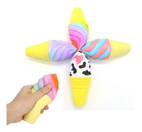 16 cm jumbo colorido helado de vaca squishy arco iris cono d