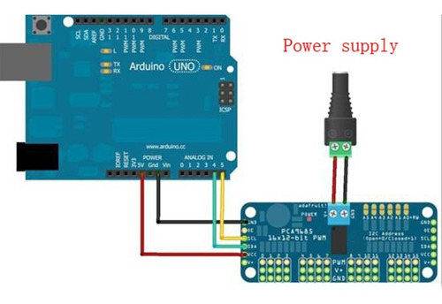 16 controlador motor canal pwm para arduino