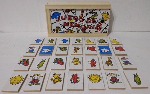 16 domino de madera, memoria, alfabeto, loteria diverti toys