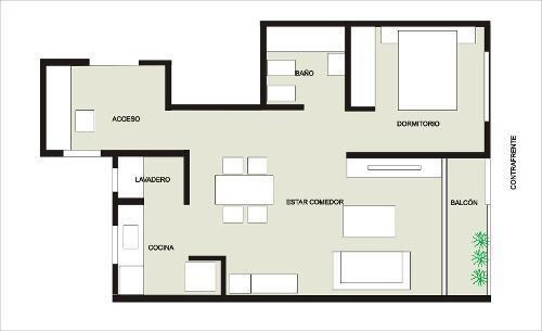 16 e 65 y 66 departamento 1 dormitorio al frente