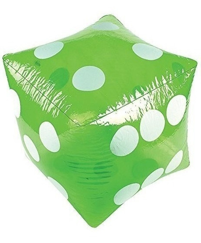 16  enorme inflable dados verdes - fiesta- envío gratis