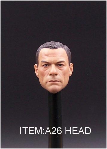 1/6 escala personalizada jean-claude van damme cabeza esculp