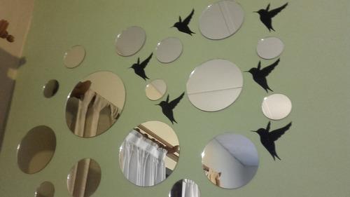 16 espejos redondos listos para colocar,living,baño,dormitor