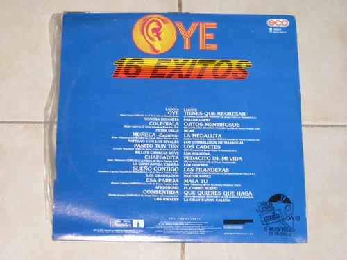 16 exitos en cumbia oye disco lp acetato vinil