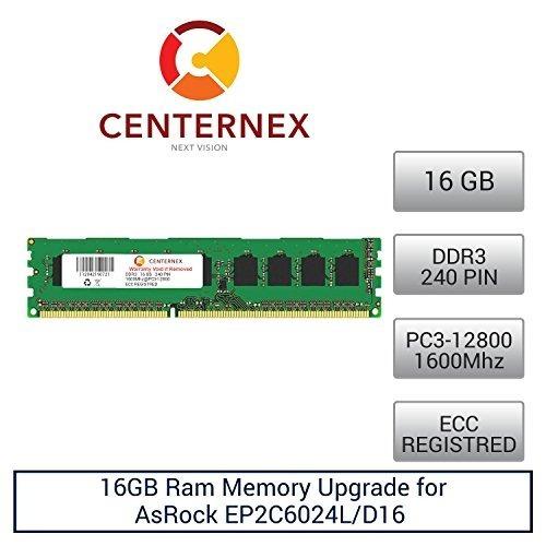 16 gb de memoria ram para asrock ep2c6024l / d16 (ddr312800