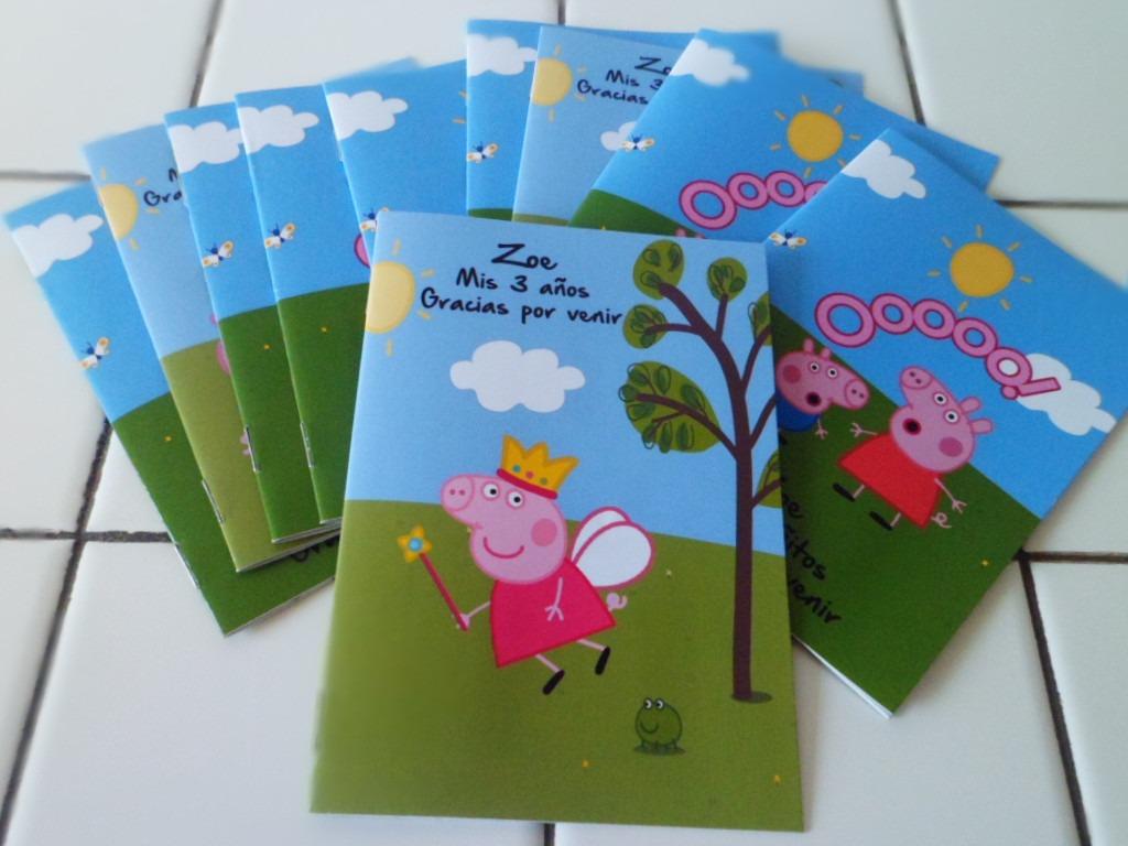 16 Libros Colorear 10x14 Peppa Pig Y 16 Lapices X6 Sur Lomas