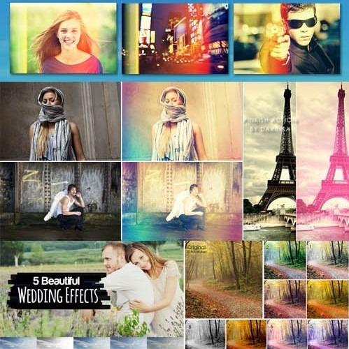 16 Light Leaks & Retro Effects Photoshop Actions + Brindes