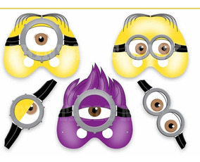 Mascara De Cerdito Minion De Mascaras Cotillon En Mercado Libre