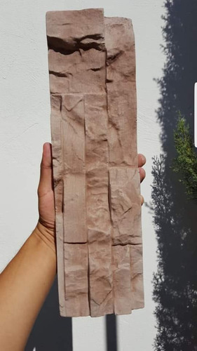 16 moldes pared piedra en plastico abs concreto yeso fachada