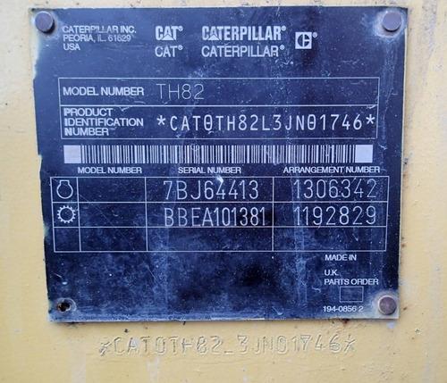 16) montacargas telescopico caterpillar th82 2002 8000 lbs