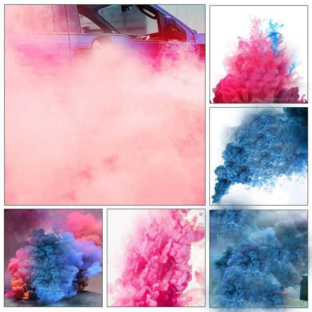 MA87 Smoke Cake Colorido Efecto Humo Show Redondo Bomba Etapa fotograf/ía Ayuda Juguete Regalos 2.2x2.5cm