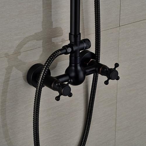 16 piezas regadera ducha negra expuesta   8a12 dh