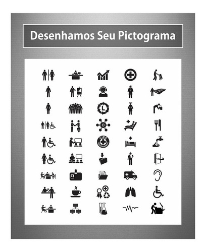 16 placa setor identificação sala departamento personalizada