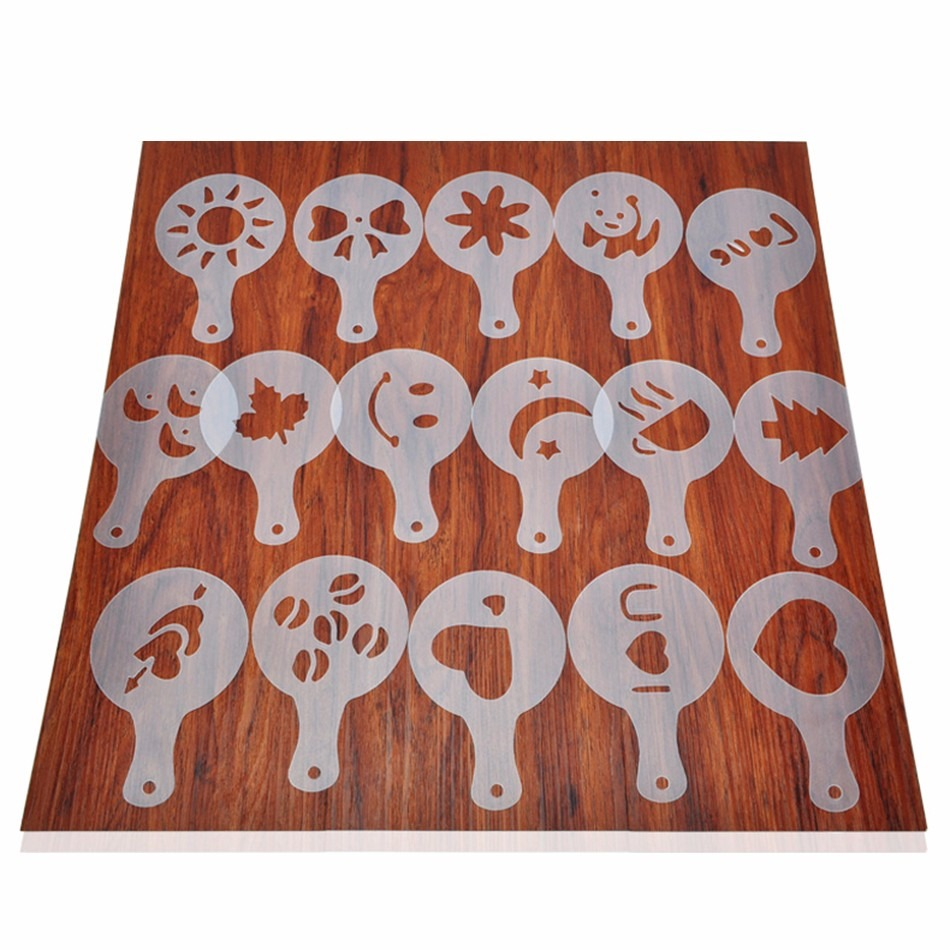 16 Plantillas Decorar Espuma D Cafe Capuchino Barista - $ 52.00 en ...